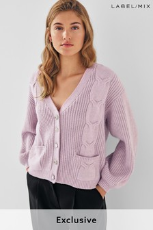Next/Mix Lilac Cable Cardigan