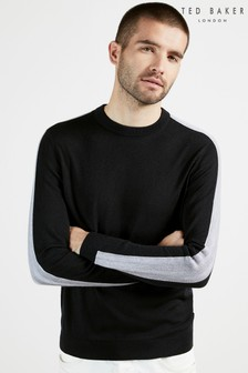 Ted Baker Karmel Crew Neck Jumper With Overarm Stripe