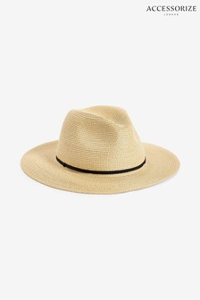 Accessorize Natural Packable Panama Hat