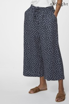 Thought Blue Spot Print Miriam Culottes