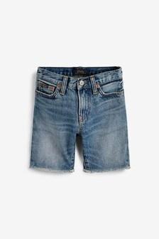 Ralph Lauren Blue Raw Denim Shorts