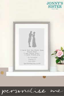 Personalised Jane Eyre Framed Print by Jonnys Sister