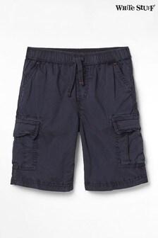 White Stuff Navy Niko Cargo Shorts