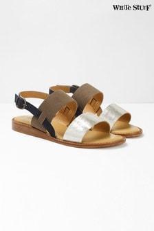 White Stuff Metallic Elodie Mini Wedge Sandals