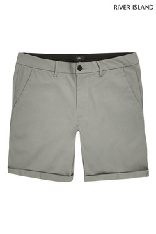River Island Green Light Vienna Skinny Shorts
