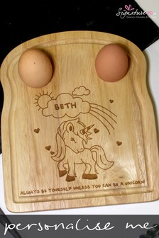 Personalised Unicorn Egg And Soldiers Board by Signature PG