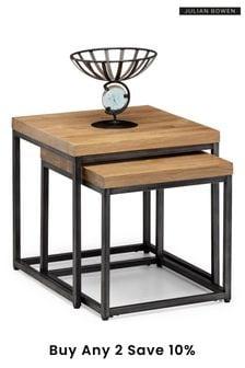 Brooklyn Oak Nesting Lamp Tables By Julian Bowen