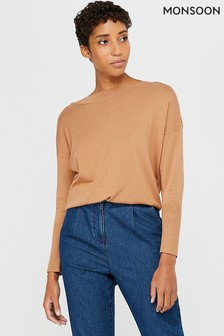 Monsoon Camel Patsy Popper Jumper