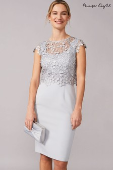 Phase Eight Mineral Mariposa Doube Layered Dress