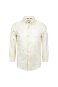 GUCCI Kids Boys White Cotton Oxford Shirt