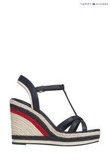 Tommy Hilfiger Blue Strappy Vancouver High Wedges