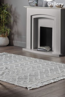 Frescoes Geo Fringed Rug by Gallery Direct