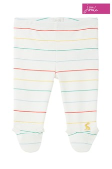 Joules White Crawler Organic Cotton Footed Leggings