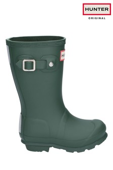 Hunter Green Original Kids Wellington Boots
