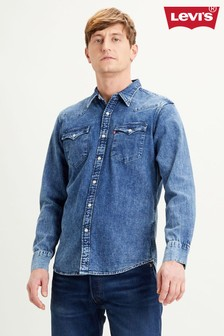 Levi's® Dark Wash Barstow Western Denim Shirt
