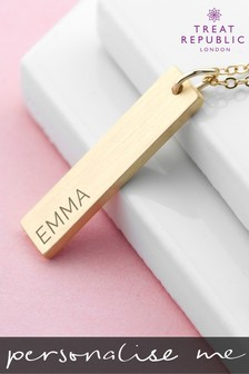 Personalised Statement Bar Necklace by Treat Republic