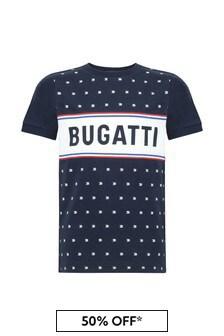 Bugatti Navy Cotton T-Shirt