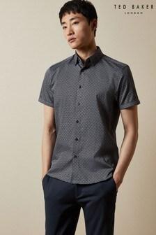 Ted Baker Namasty Short Sleeve Geo Print Shirt