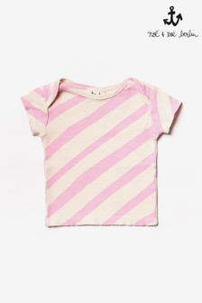 Noé & Zoë Pink Striped T-Shirt
