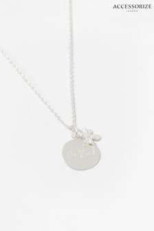Accessorize Sterling Silver Bee Kind Necklace