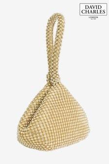 Złota torebka wysadzana klejnocikami David Charles