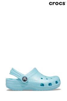 Crocs™ Blue Glitter Clog Sandals