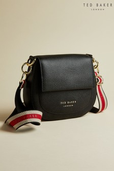 Ted Baker Black Amali Leather Round Cross Body Bag