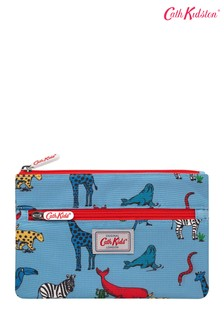 Cath Kidston Kids Grey Animals Double Zip Pencil Case
