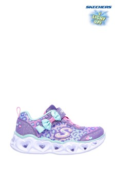 Skechers® Purple Heart Lights Untamed Hearts Trainers