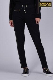 Barbour® International Black Slim Fit Tape Logo Podium Joggers