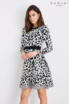 Damsel In A Dress Multi Montsuki Leopard Knit Dress