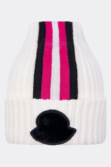 Girls Ivory Wool Hat