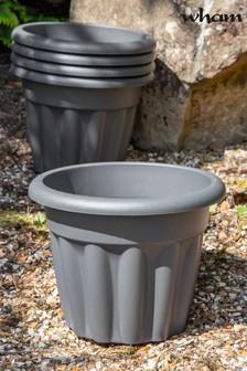 Set of 5 Wham Vista 33cm Plastic Round Planters