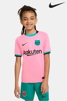 Nike Pink FC Barcelona Third Kids Football Shirt