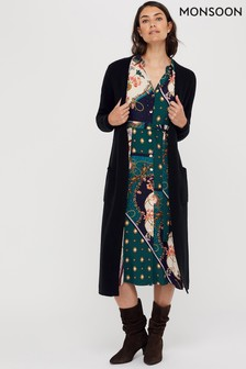 Monsoon Black Mandy Maxi Cardigan
