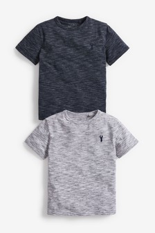 2 Pack Textured T-Shirts (3-16yrs)