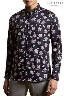Ted Baker Resep Flower Print Cotton Shirt