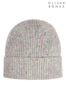 Oliver Bonas Fisherman Grey Beanie Hat