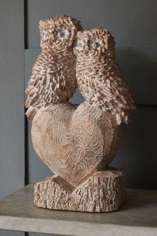 Owls On Heart Ornament