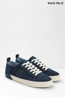 White Stuff Bailey Suede Lace-Up Trainers
