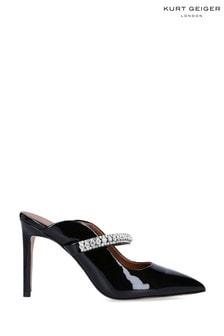 Kurt Geiger London Black Duke Patent Heeled Shoes