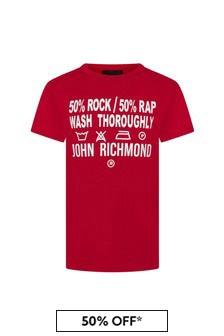 John Richmond Boys Red Cotton T-Shirt