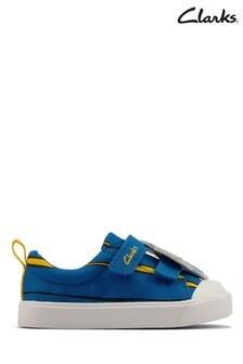 Clarks Blue Canvas City Nemo T Canvas Shoes