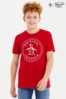 Original Penguin® Red Stamp Logo T-Shirt