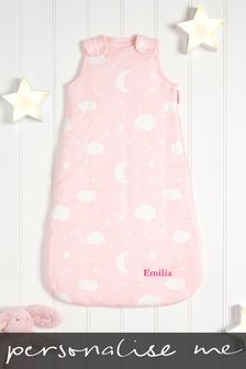 Personalised 2.5 Tog Pink Sleep Bag