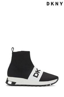 DKNY Black Monochrome Mace Sock Trainers