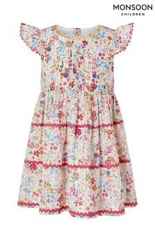 Monsoon Cream Baby Constance Ditsy Dress