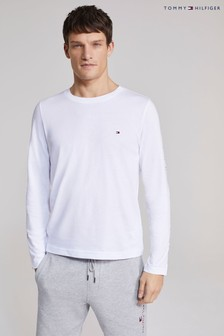 Tommy Hilfiger White Essential Long Sleeve Tommy T-Shirt