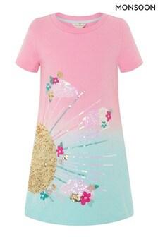 Monsoon Pink Sunshine Ombre Sweat Dress