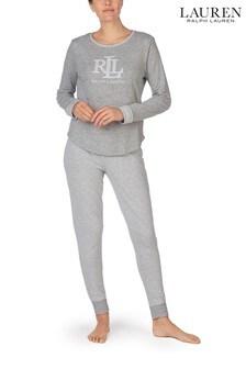 Lauren Grey Double Knit Jogger Pyjamas